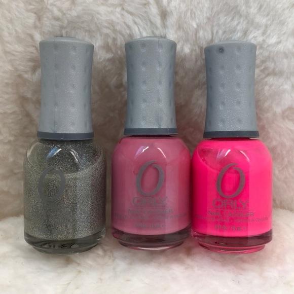 Orly Other Nail Polish 3 Piece Pink Glitter Set Poshmark